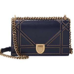 Dior Diorama Crossbody Bag - Navy Studded Lambskin